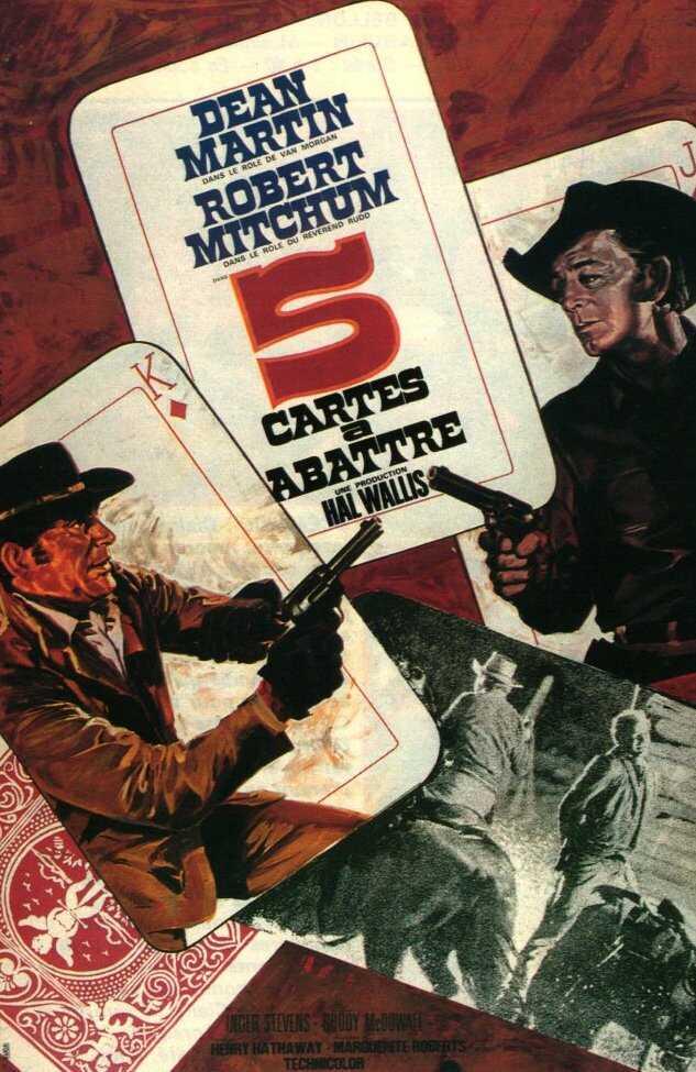 affiche du film Cinq cartes a abattre