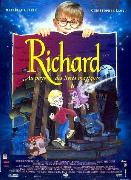 affiche du film Richard au pays des livres magiques