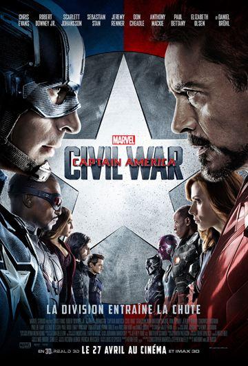affiche du film Captain America: Civil War