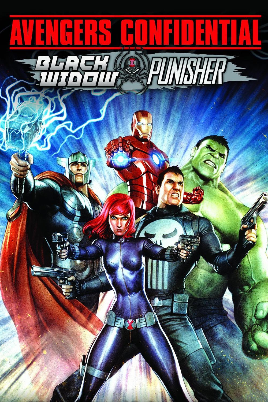 affiche du film Avengers Confidential : La Veuve Noire et Le Punisher