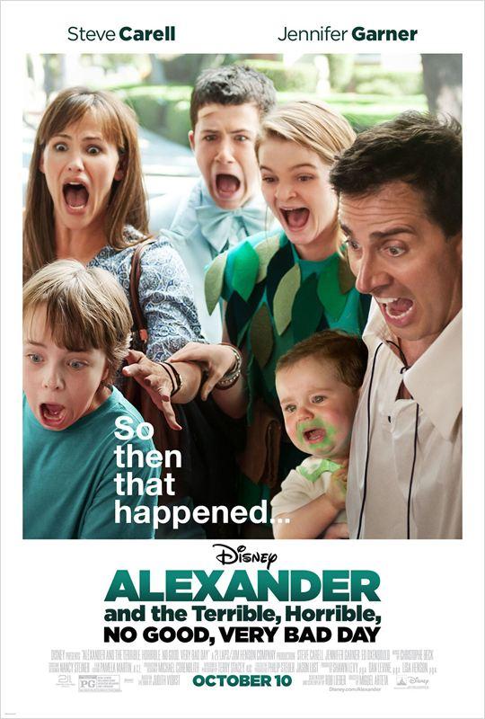 affiche du film Alexander et sa journée épouvantablement terrible & affreuse