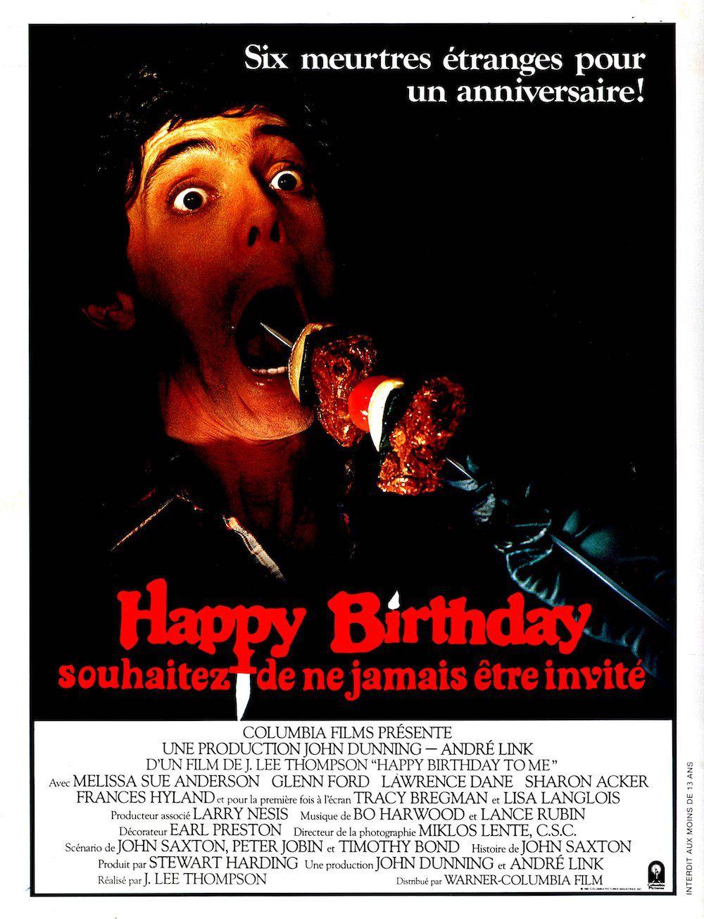 affiche du film Happy Birthday : Souhaitez de ne jamais être invité