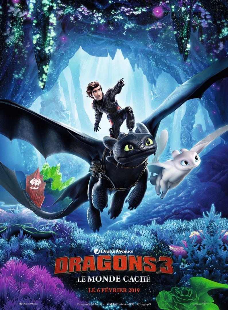 affiche du film Dragons 3 : Le Monde Caché