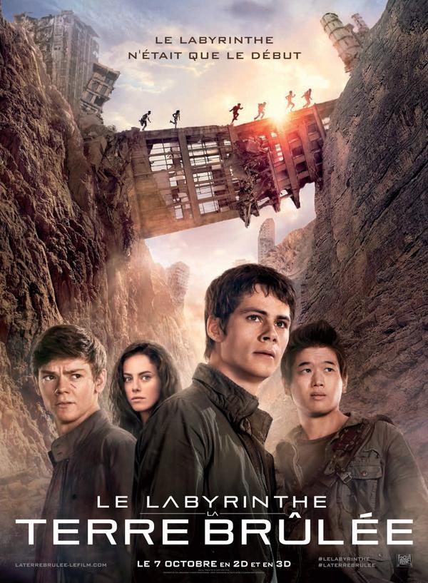 affiche du film Le Labyrinthe 2 : La terre brûlée