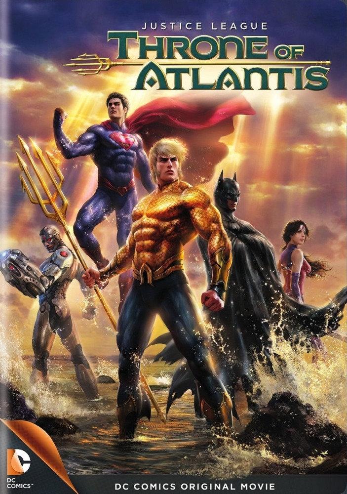 affiche du film La Ligue des Justiciers : Le Trône de l'Atlantide