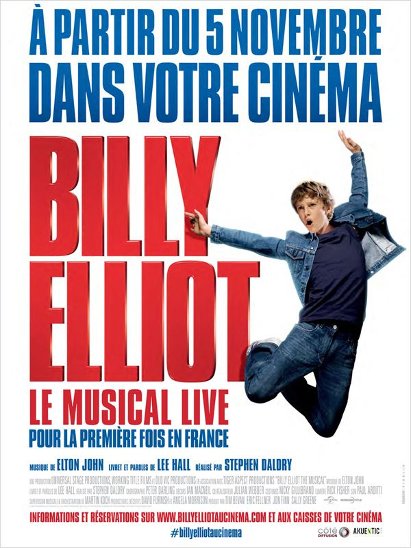 affiche du film Billy Elliot Le Musical Live