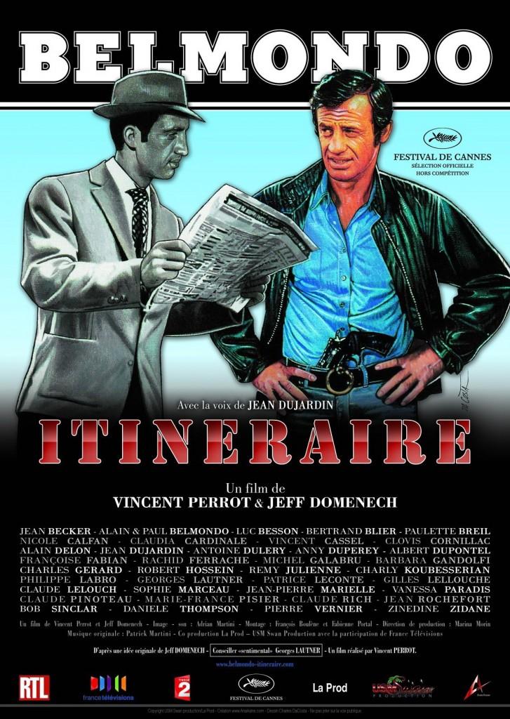affiche du film Belmondo, itinéraire...