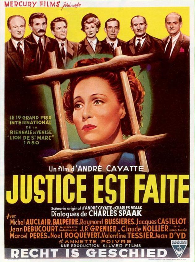 affiche du film Justice est faite