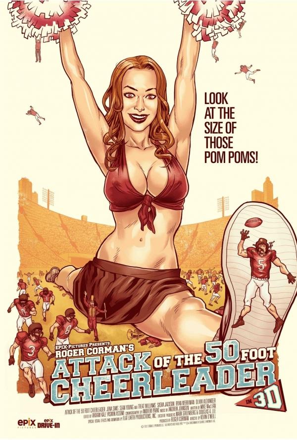 affiche du film L'Attaque de la pom-pom girl géante