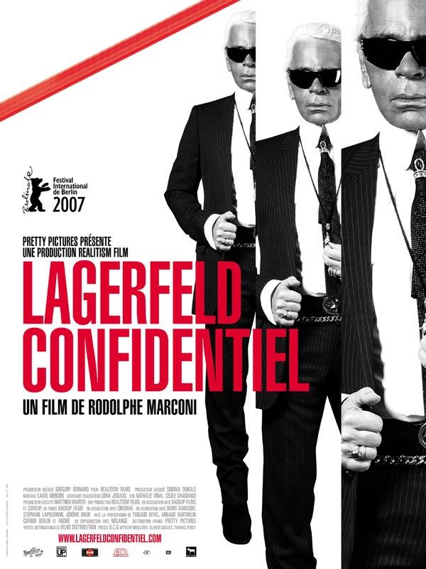 affiche du film Lagerfeld Confidentiel