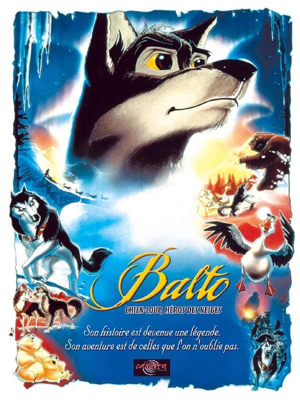affiche du film Balto chien-loup, héros des neiges