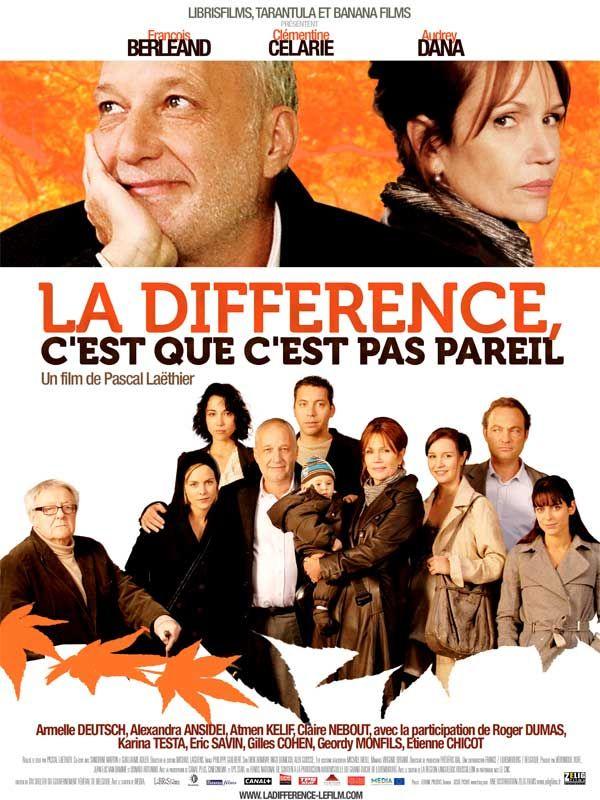 affiche du film La différence, c'est que c'est pas pareil