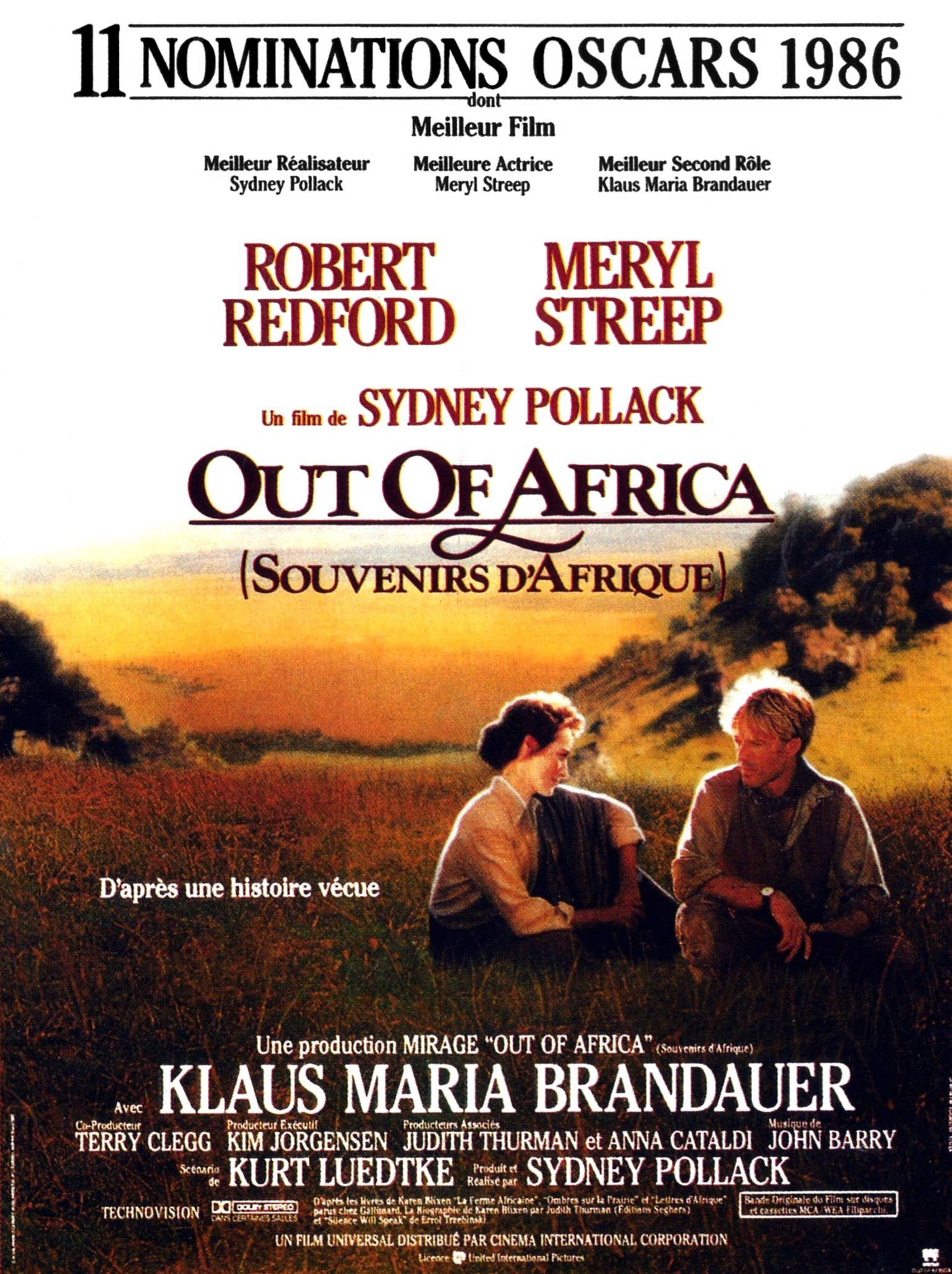 affiche du film Out of Africa : Souvenirs d'Afrique