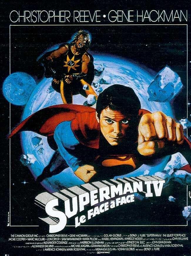 affiche du film Superman IV