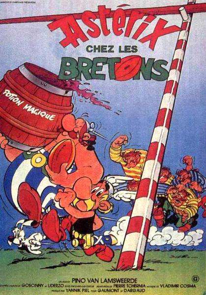 affiche du film Astérix chez les Bretons