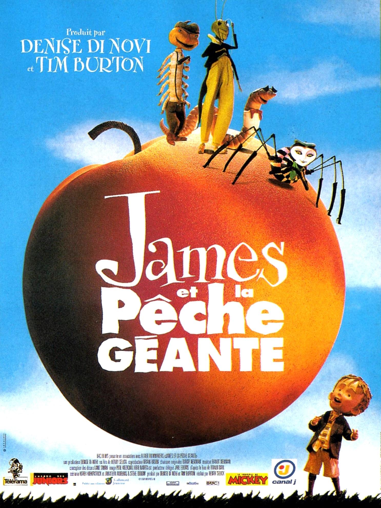 affiche du film James et la pêche géante