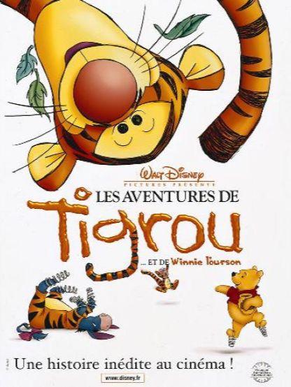 affiche du film Les aventures de Tigrou et de Winnie l'ourson