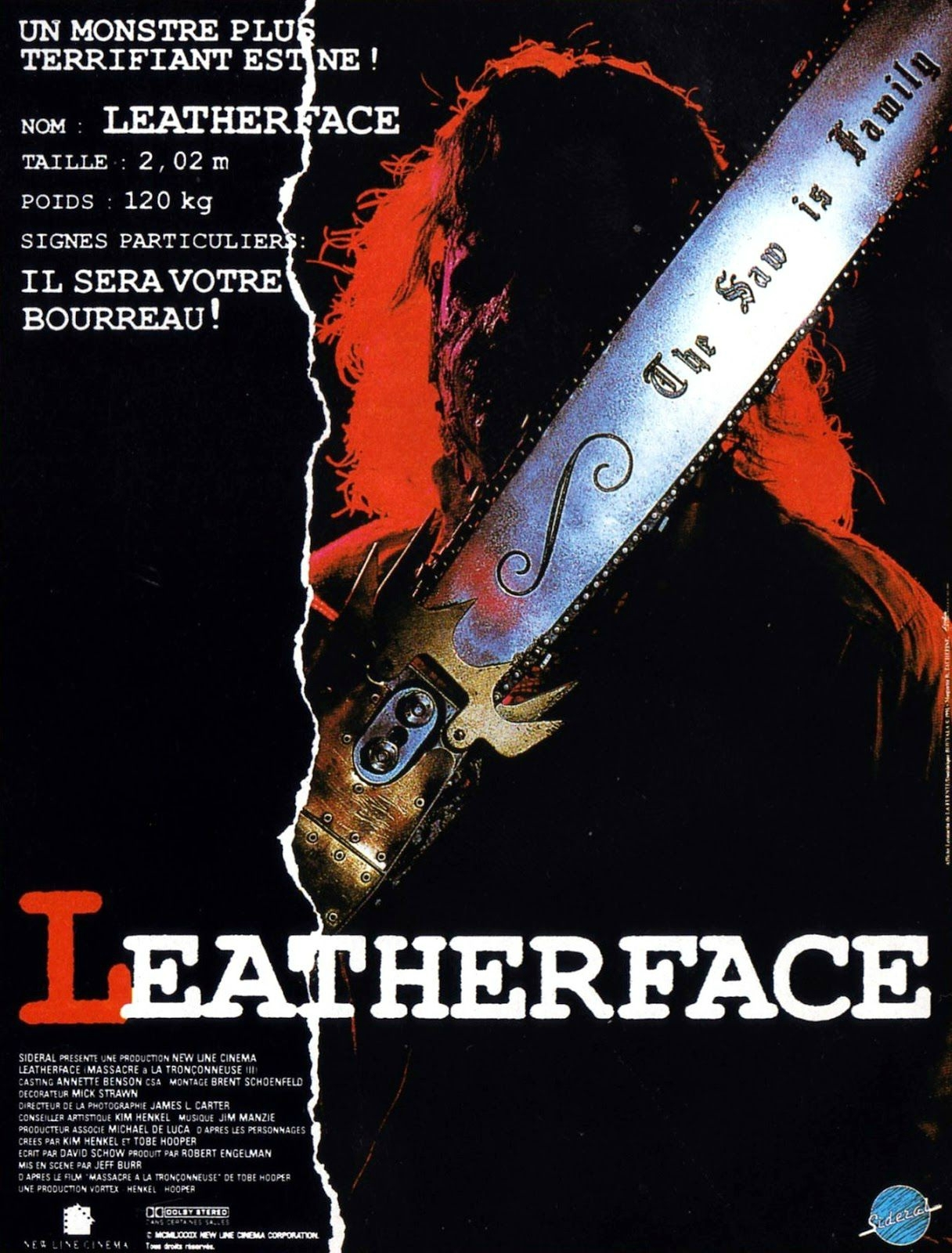 affiche du film Leatherface - Massacre à la tronçonneuse III