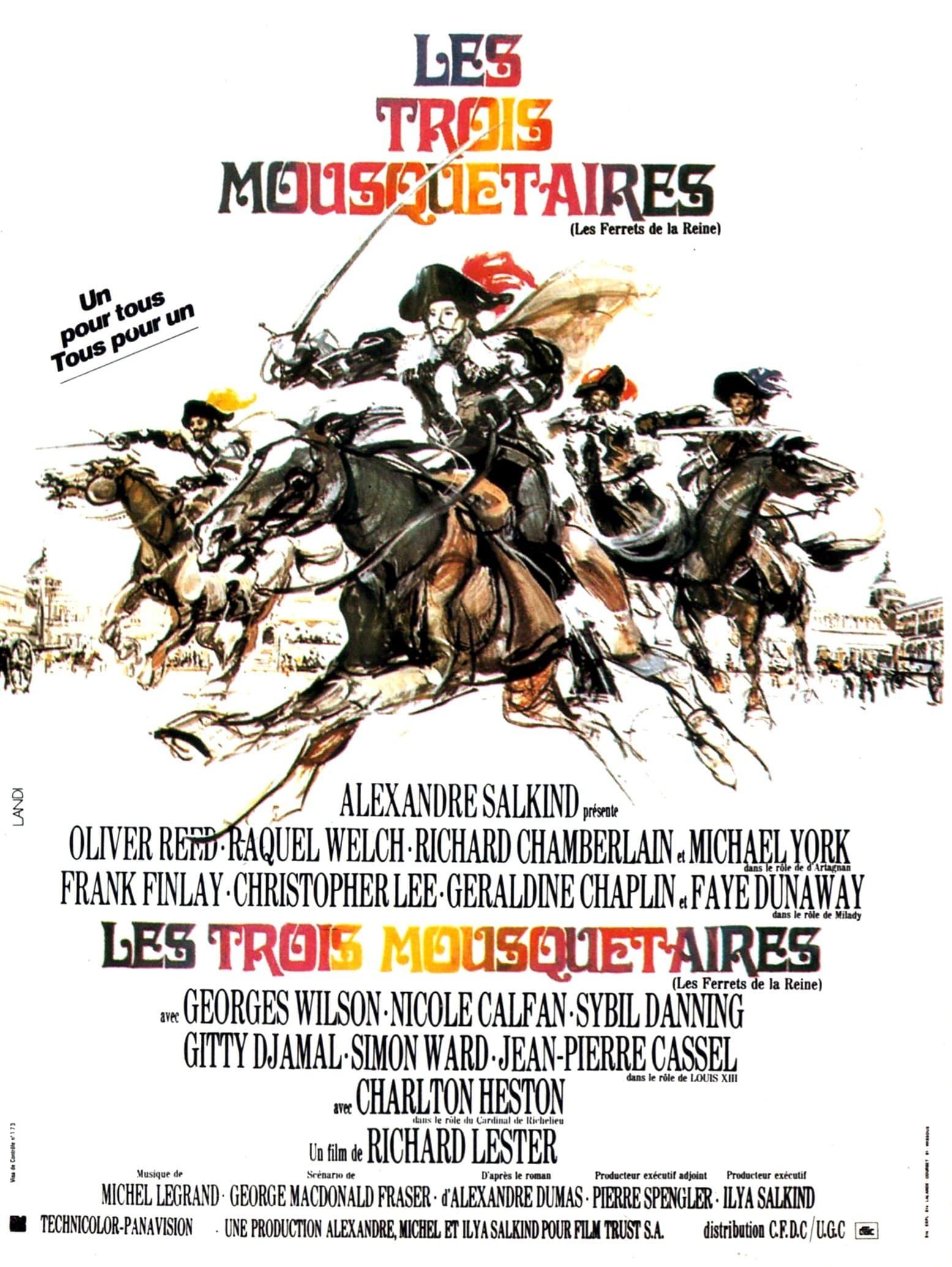affiche du film Les trois mousquetaires (1973)