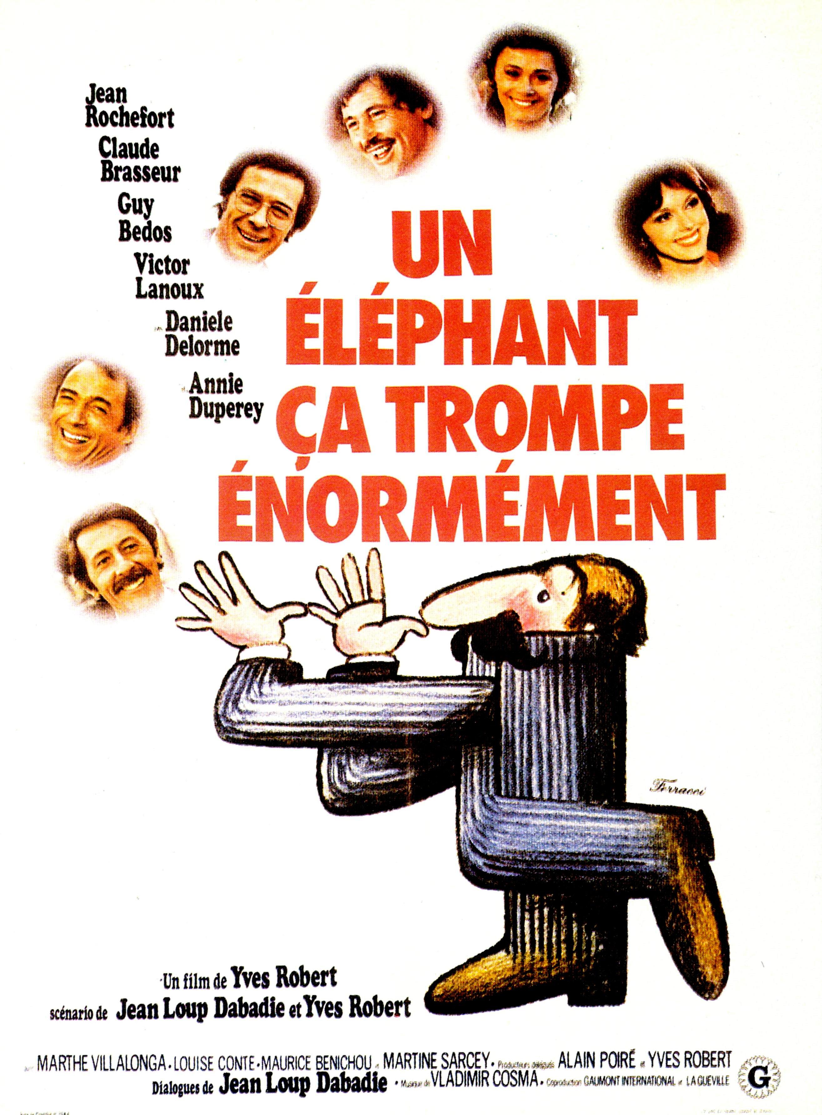 affiche du film Un éléphant, ça trompe énormément
