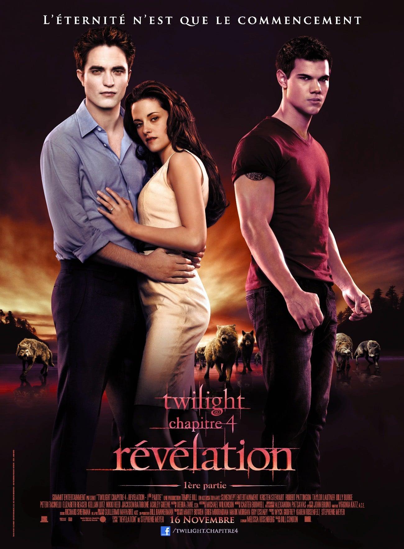 affiche du film Twilight : Chapitre 4 - Révélation, 1ère partie