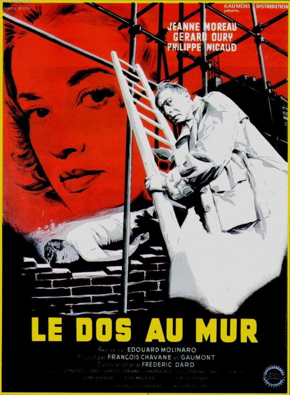 affiche du film Le dos au mur