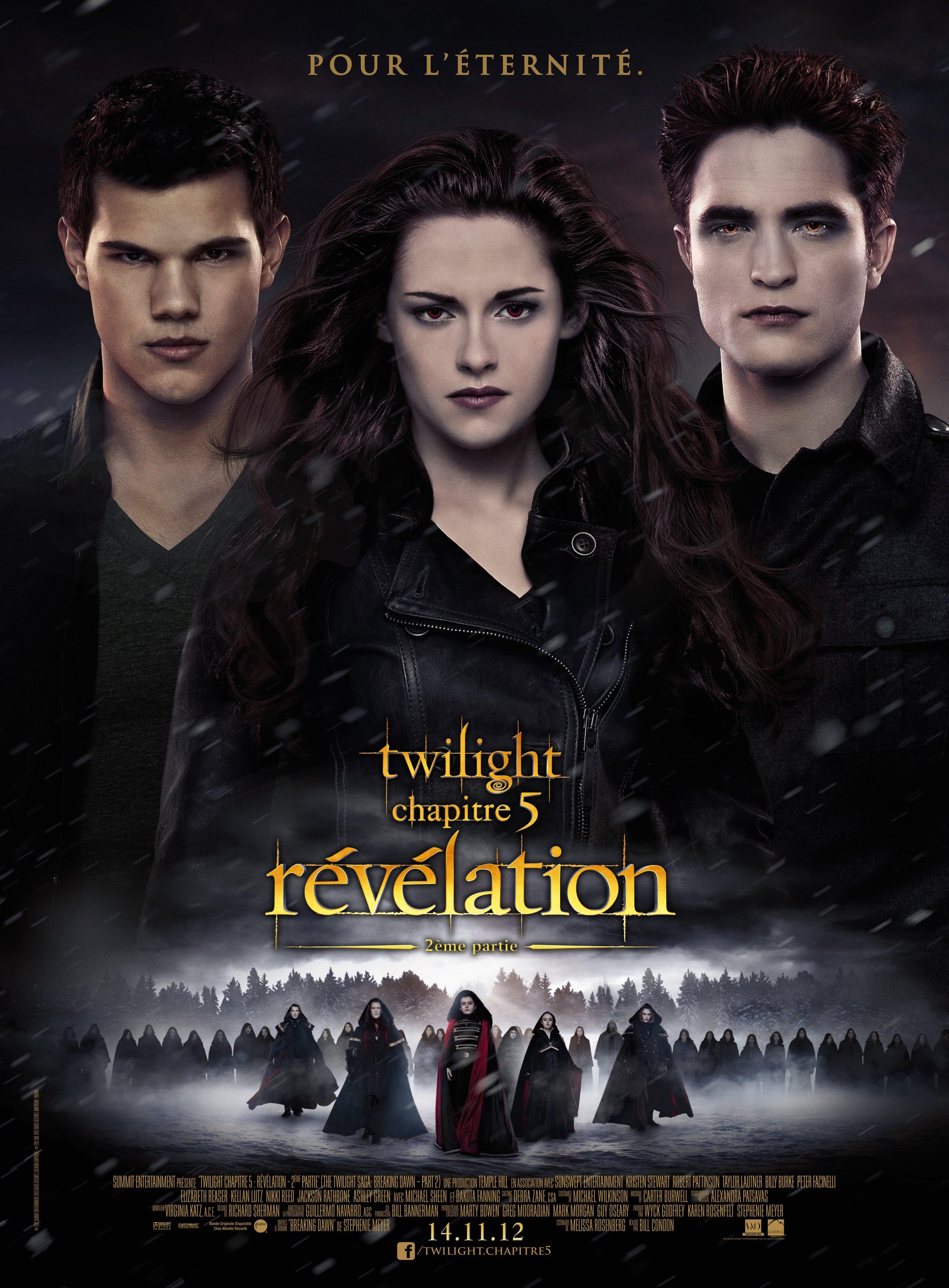 affiche du film Twilight : Chapitre 5 - Révélation, 2e partie
