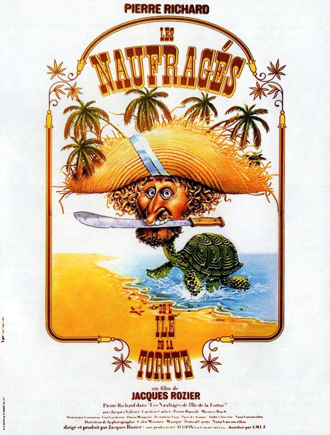 affiche du film Les Naufragés de l'ile de la Tortue