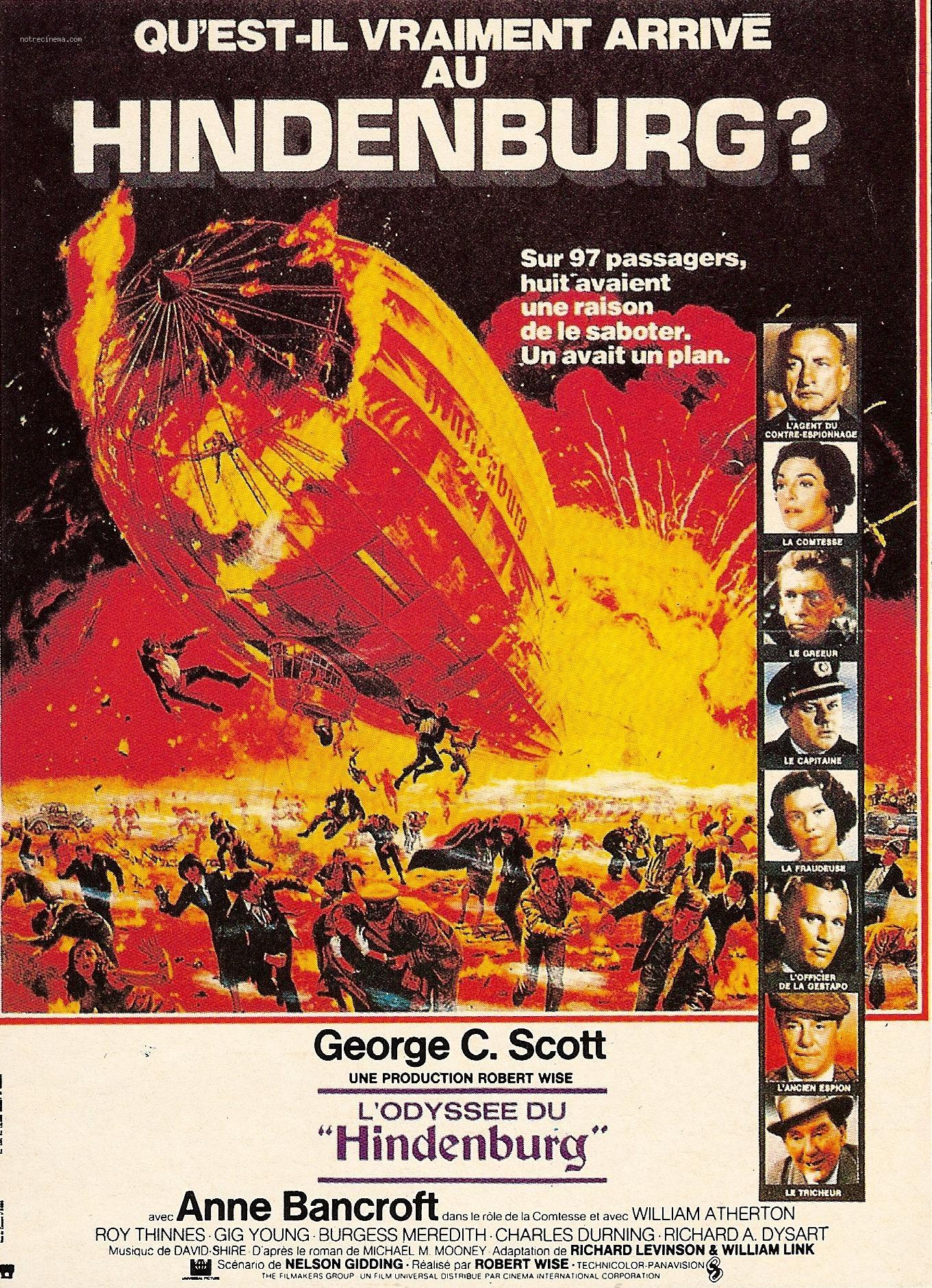 affiche du film L'Odyssée du Hindenbourg