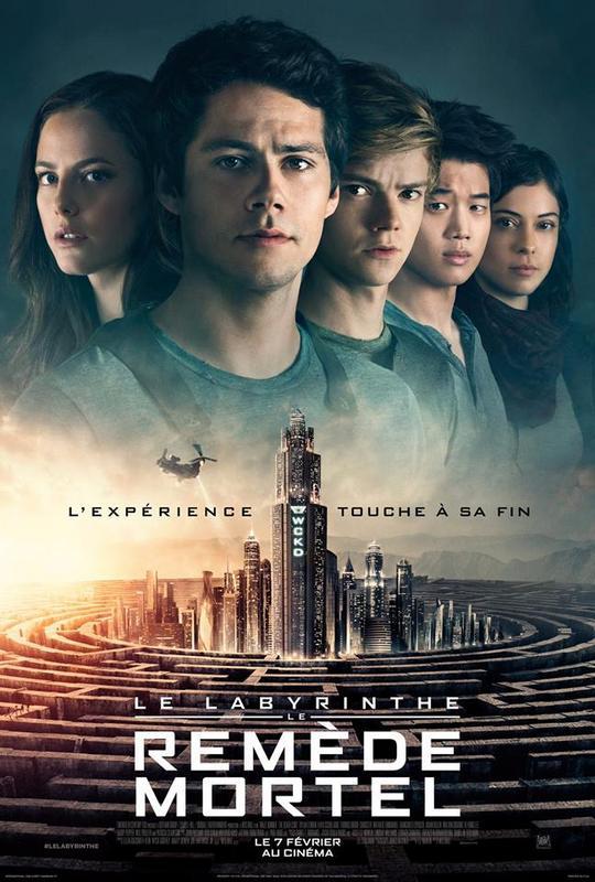 affiche du film Le Labyrinthe 3 : Le Remède Mortel