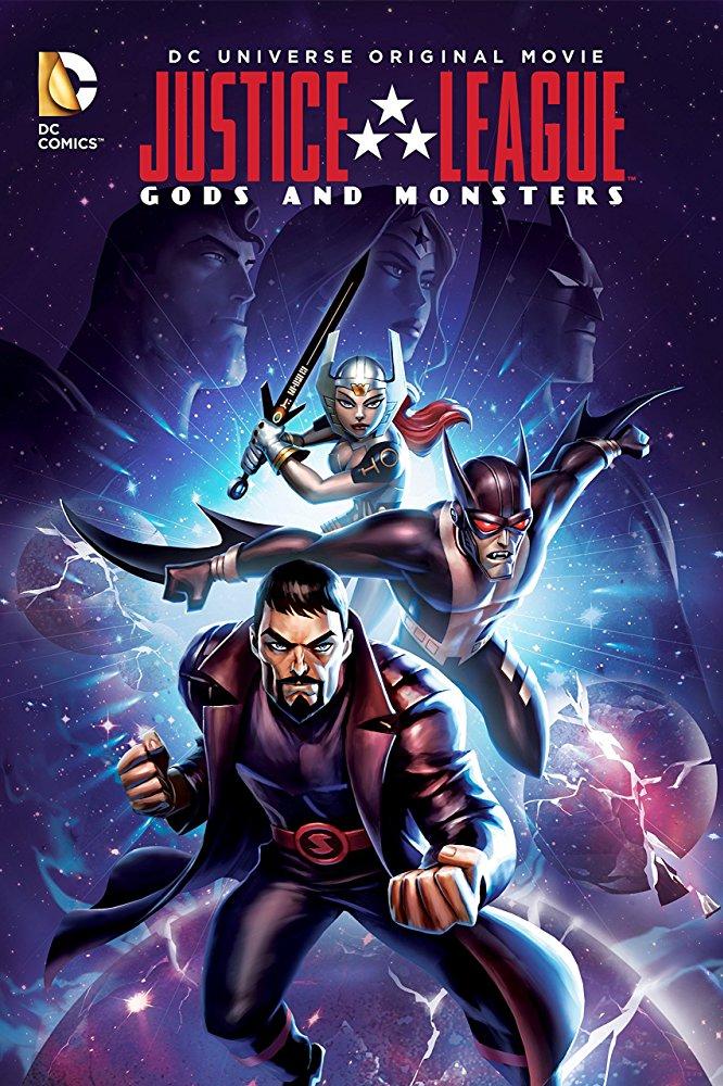 affiche du film Les aventures de la Ligue des Justiciers : Dieux et monstres