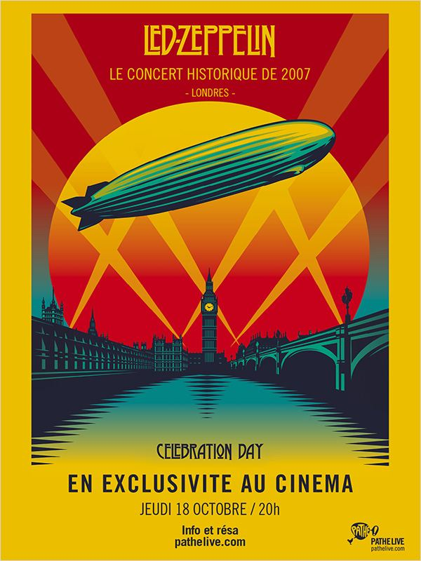affiche du film Led Zeppelin: Celebration Day