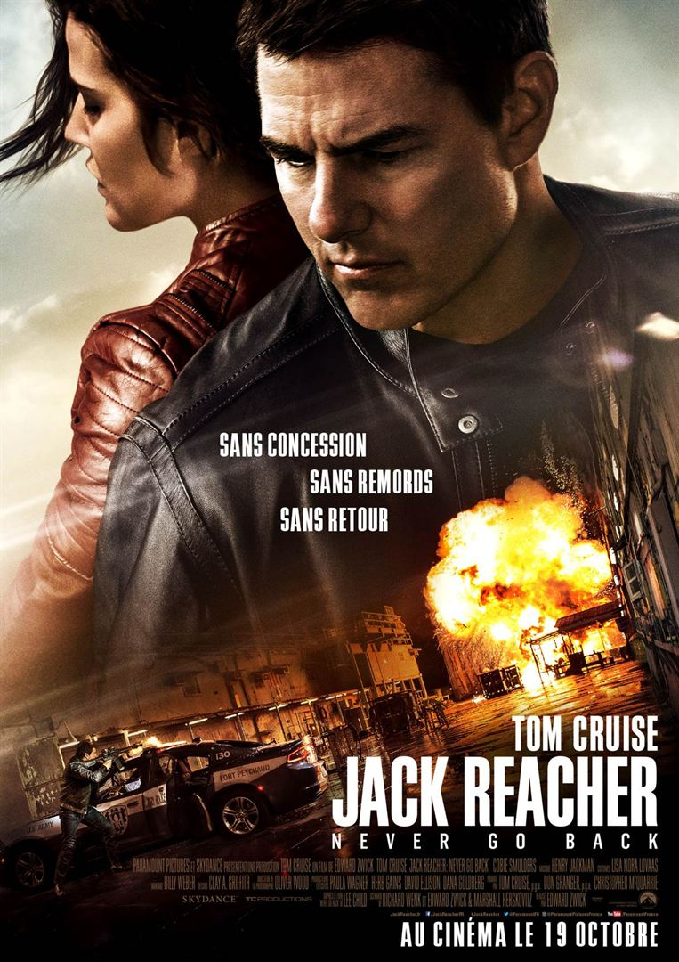 affiche du film Jack Reacher: Never Go Back