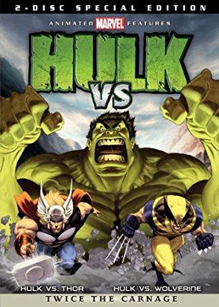 affiche du film Hulk vs. Thor / Hulk vs. Wolverine