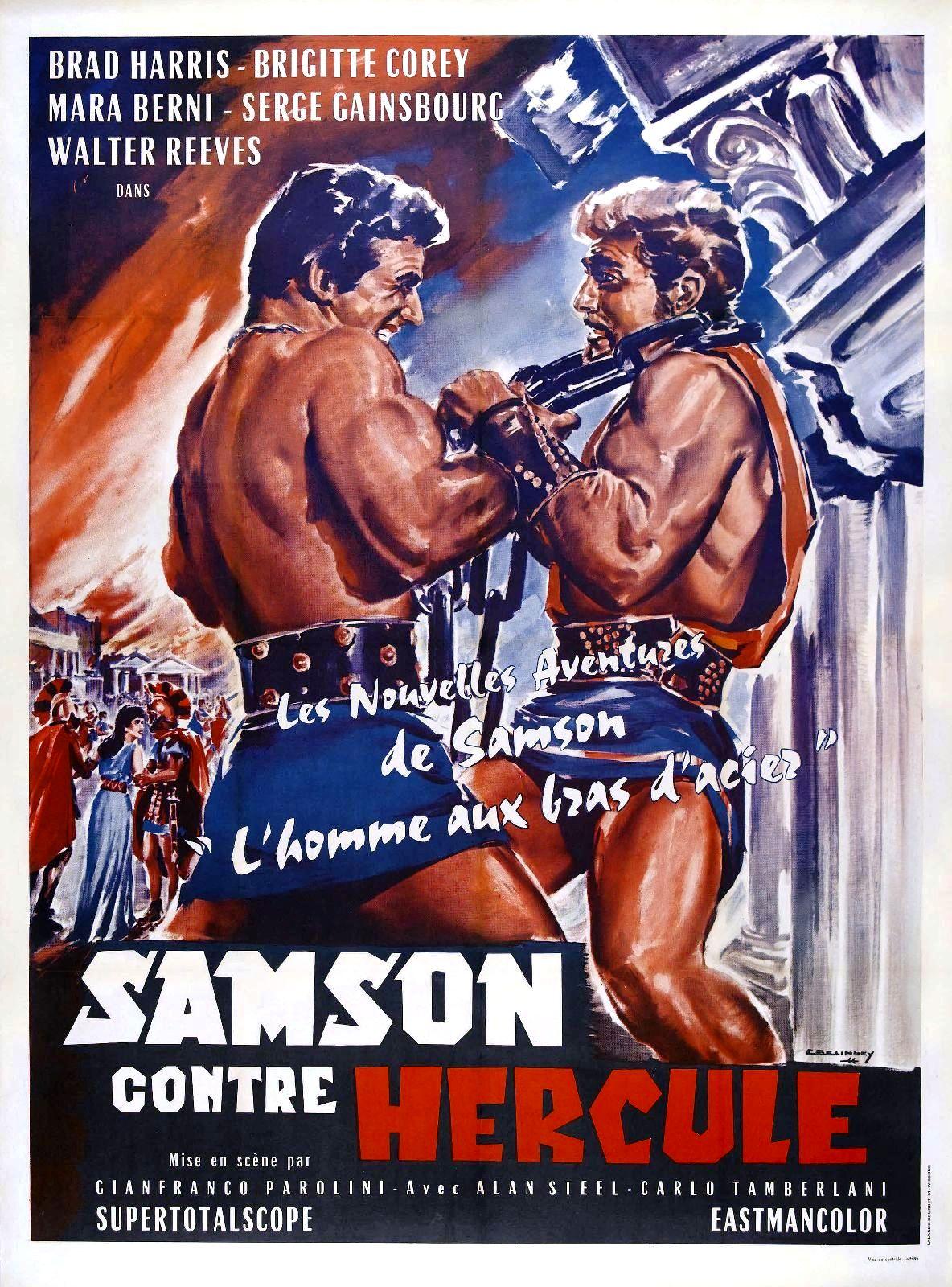 affiche du film Samson contre Hercule