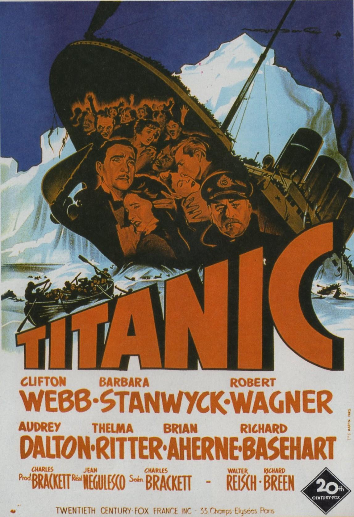 affiche du film Titanic (1953)