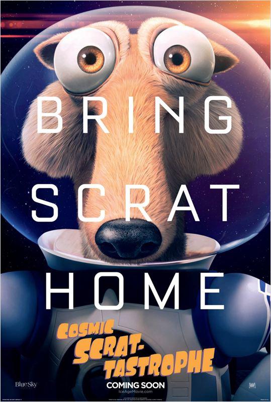 affiche du film Scrat-tastrophe Cosmique