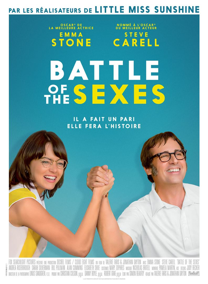 affiche du film Battle of the Sexes