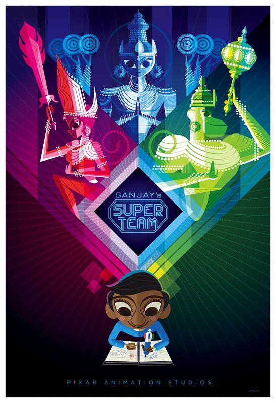 affiche du film Sanjay et sa Super Équipe