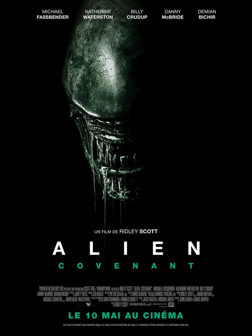 affiche du film Alien: Covenant