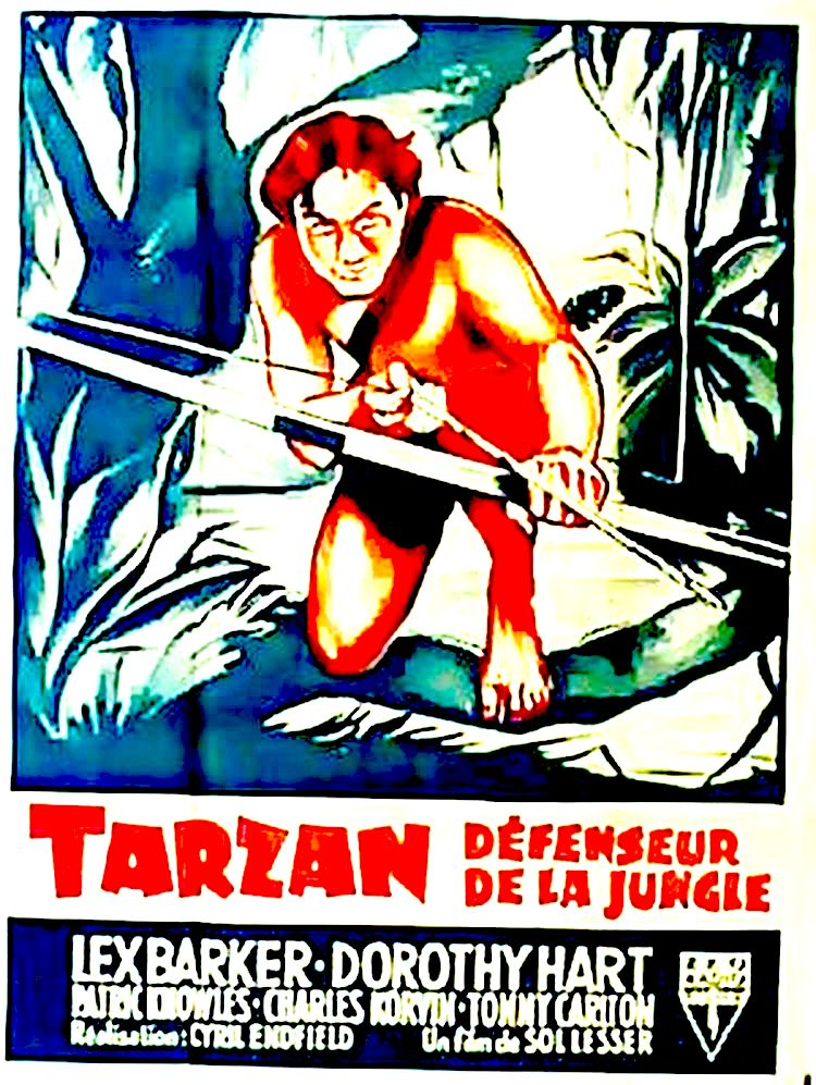 affiche du film Tarzan, Défenseur de la Jungle