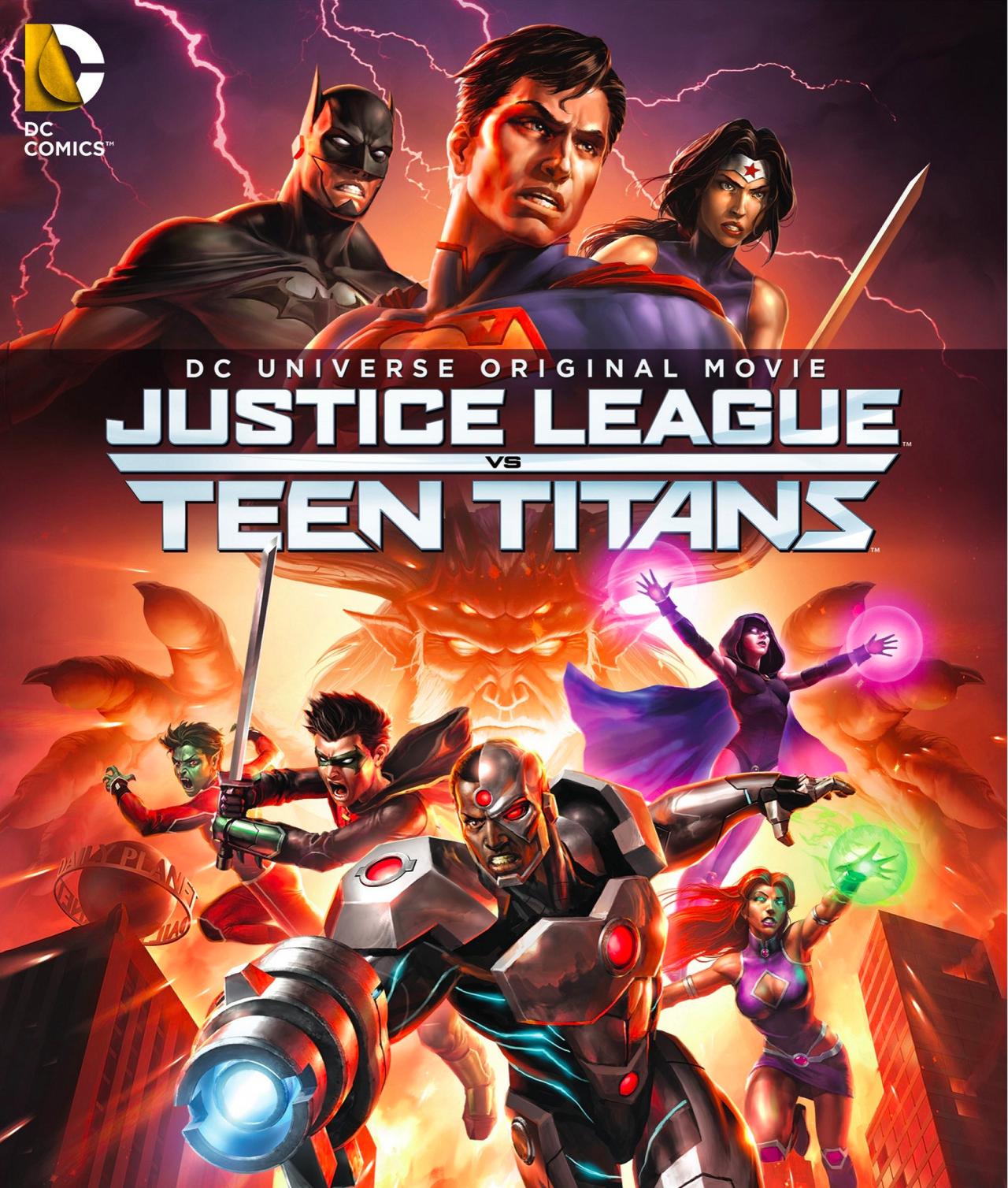 affiche du film La ligue des justiciers vs. Teen titans