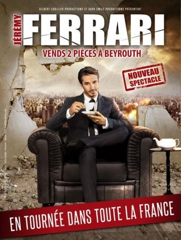 affiche du film Jérémy Ferrari : Vends deux pièces à Beyrouth