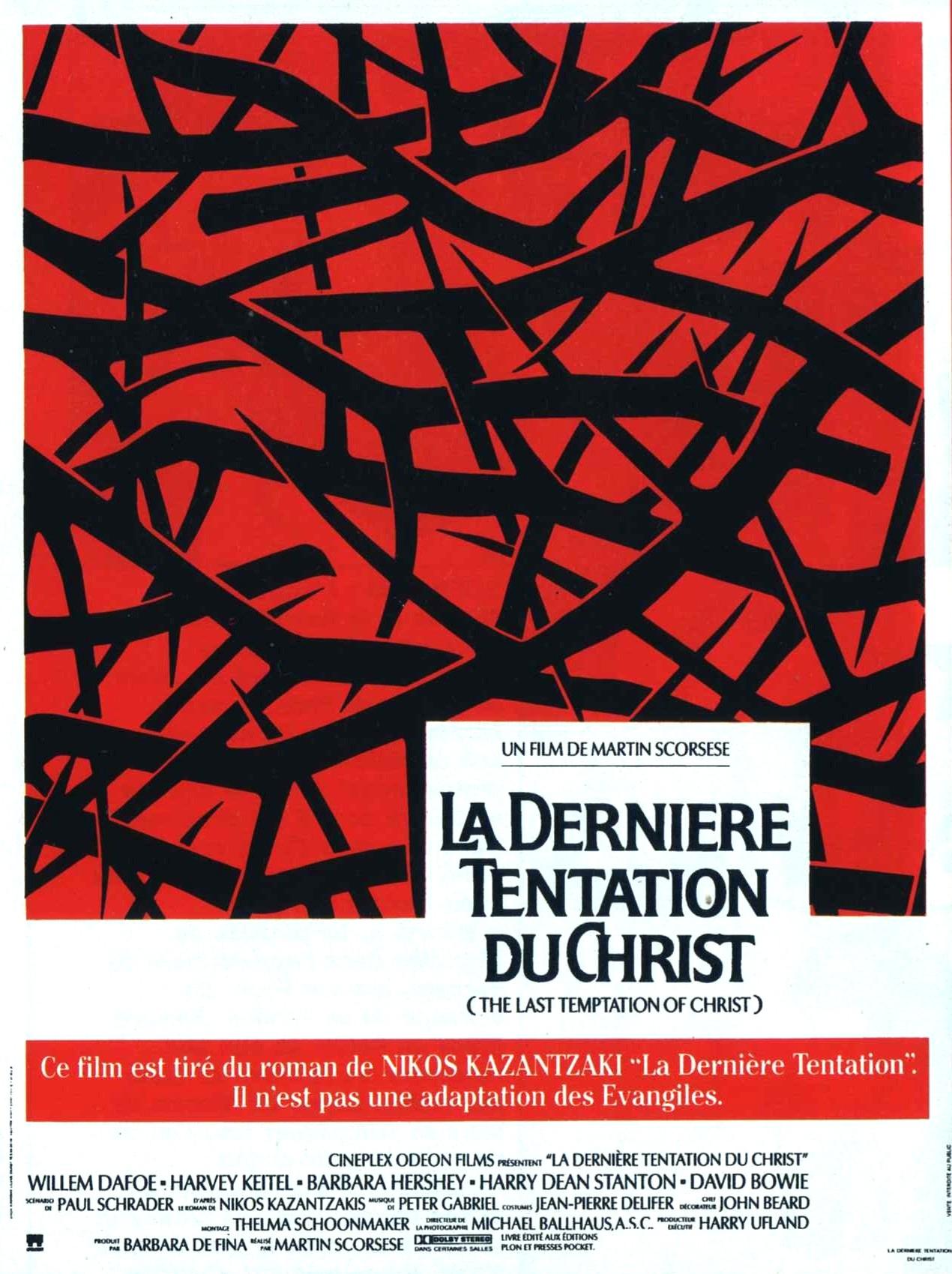 affiche du film La Dernière Tentation du Christ