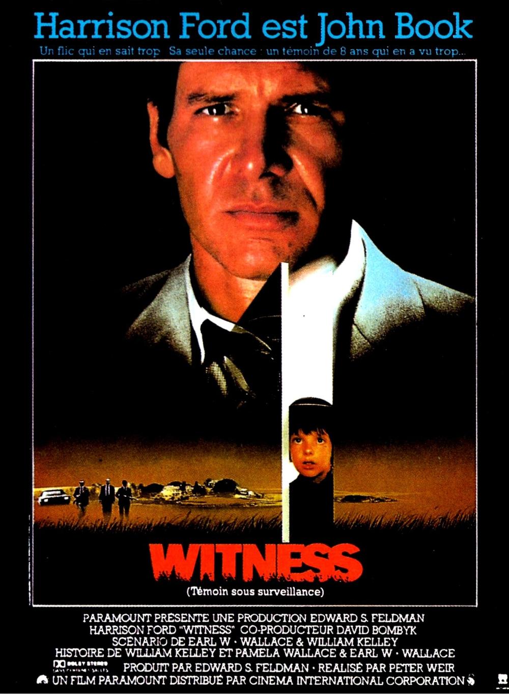 affiche du film Witness : Témoin sous surveillance