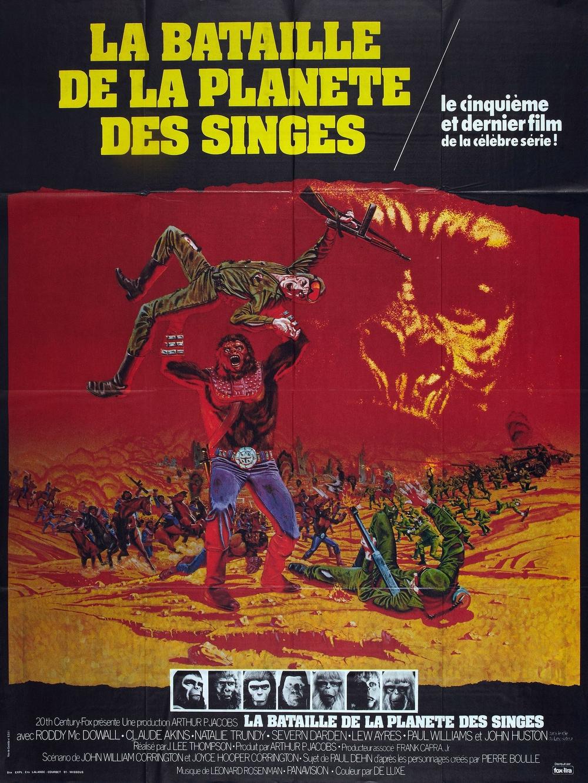 affiche du film La bataille de la planète des singes