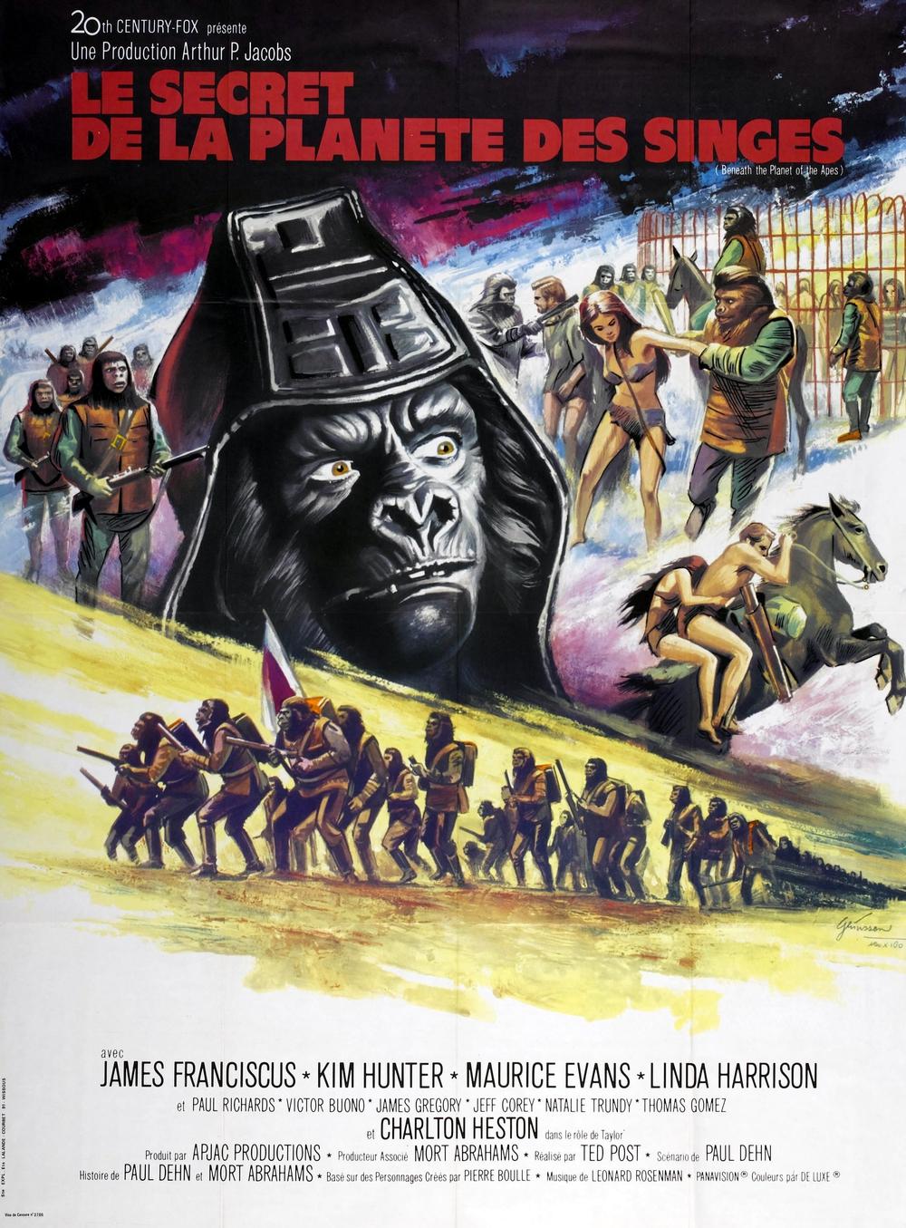 affiche du film Le secret de la planète des singes