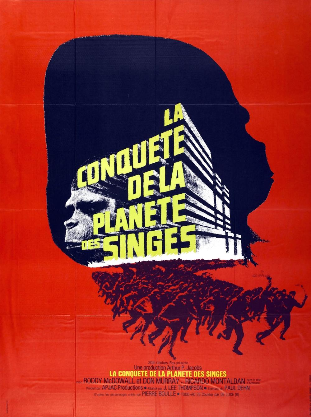 affiche du film La conquête de la planète des singes
