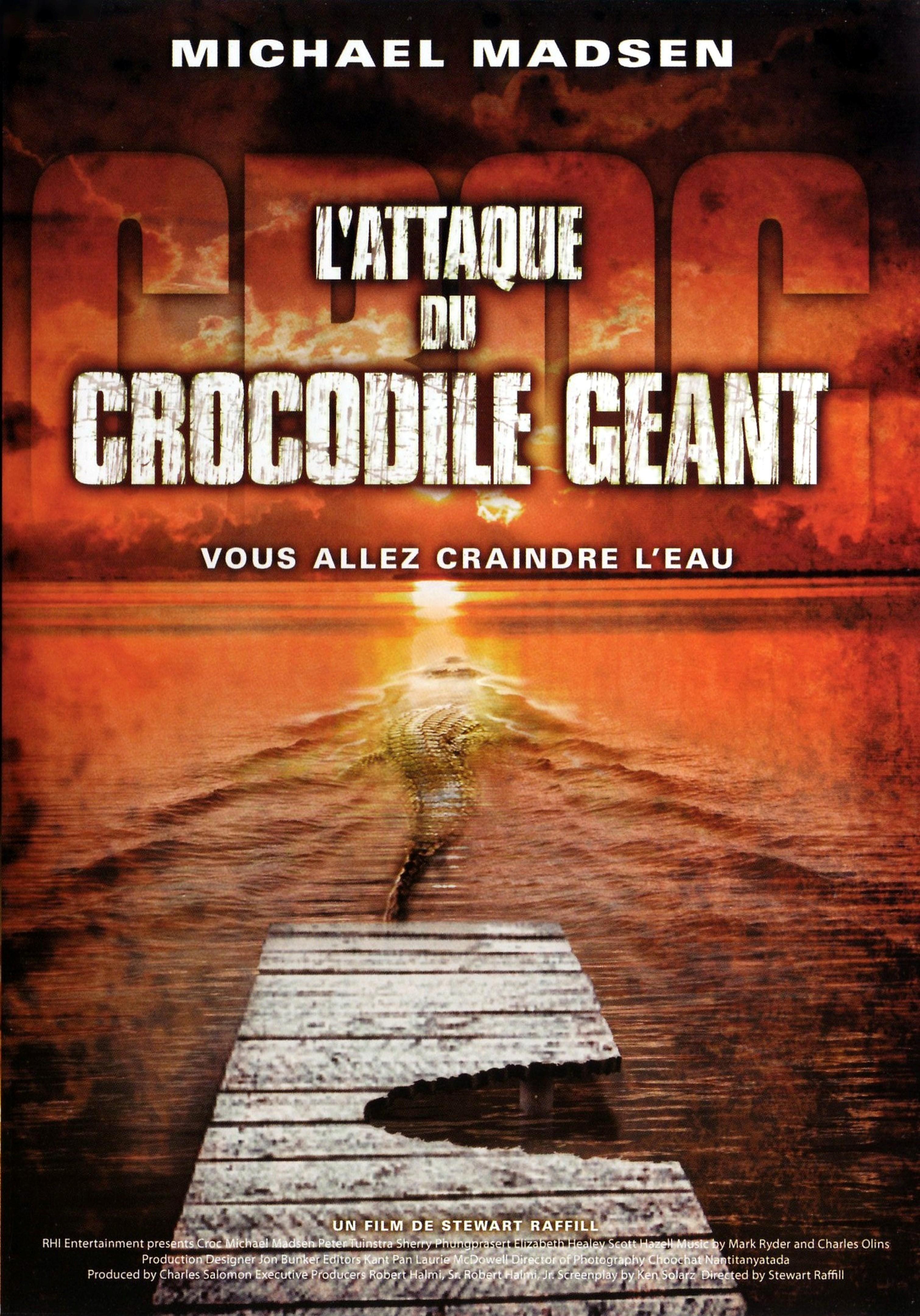 affiche du film L'attaque du crocodile géant (TV)