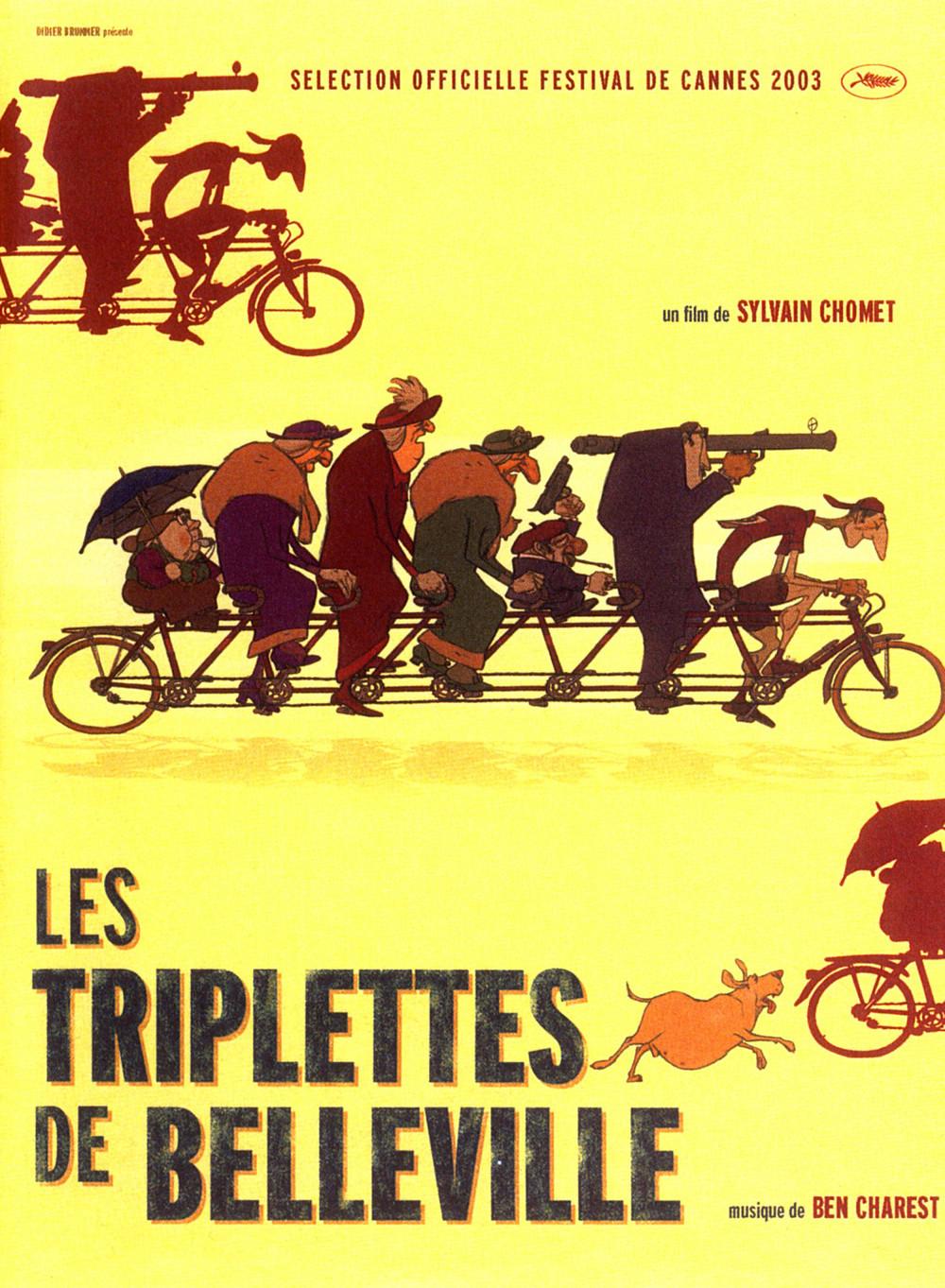 affiche du film Les Triplettes de Belleville